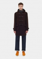 Morris Duffle Coat brown tartan