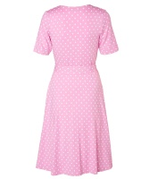 Celia Dot Pink Short Sleeve