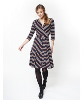 Jumperfabriken dress Celia stripe