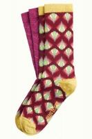 King Louie socks 2-Pack Namaste Cherise Red