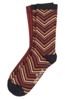 Socks 2-Pack Indra brunette brown