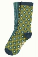 Socks 2-Pack Diamond olive green
