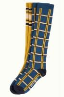 Socks 2-Pack Knee Socks Check autumn blue