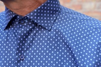 Carlos Cordoba shirt Rutor blå