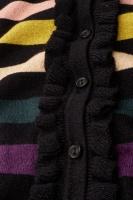 Cardi Ruffle Glitter Stripe