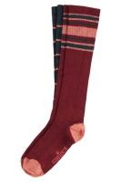 Socks 2-Pack Knee Socks Check pine green
