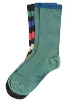 King Louie socks 2-Pack Lurex Stripe fir green