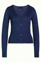 Cardi V Heart Ajour Autumn Blue