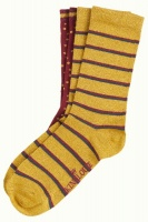 Socks 2-Pack Award curry yellow