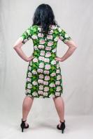 SARA Dress ½ slv pelargon