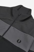 Colour Block Track Jacket Gunmetal