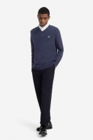 Fred Perry Classic Cotton V-Neck Jumper blue