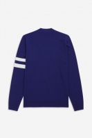 Fred Perry Cardigan Tipped Sleeve Midnight Indigo