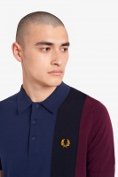 Fred Perry Side Panel Knitted polo Shirt