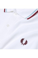 Fred Perry polo shirt M12 white/ice/maroon