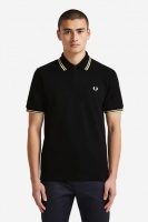 Fred Perry polo shirt M12 Black/Champagne