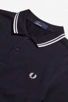 Fred Perry polo shirt Twin tipped navy/white