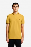 The Fred Perry Shirt - Gold/Port/Port M3600