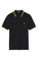 Fred Perry Twin tipped shirt black/yellow