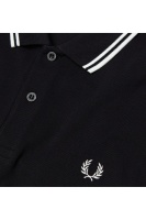 Fred Perry Twin tipped shirt black/porcelain