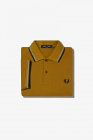 Fred Perry polo Shirt twin tipped Dark Caramel