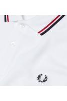 Fred Perry polo shirt Twin tipped white/red/navy
