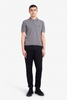 Fred Perry polo Shirt Twin Tipped Grey Marl/Champagne/Mahogany