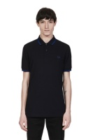 Twin tipped shirt Black/ Medieval Blue