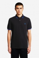 Fred Perry polo Shirt twin tipped Black/Cobalt