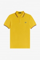 Fred Perry polo Shirt twin tipped Dijon Yellow