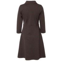 Jumperfabriken dress Tea dogtooth brown