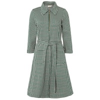 Jumperfabriken dress Tea dogtooth green