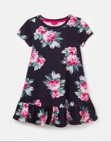 Allie Peplum Dress Navy Floral