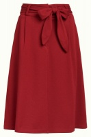 Ava Skirt Milano Crepe True Red