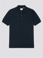 SHORT SLEEVE SIGNATURE KNITTED POLO DARK NAVY