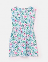 Jude Jersey Dress White Flamingo Ditsy