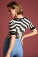 King Louie square top Classic Stripe black