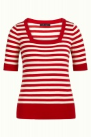 King Louie square top Classic Stripe red