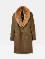 Langley Longline Coat With Faux Fur Trim