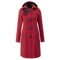 Duffle coat dam red