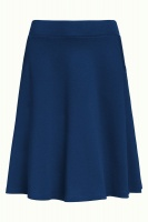 Sofia Skirt Milano Crepe Autumn Blue