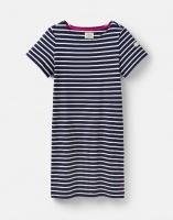 Riviera Short Sleeve Jersey Dress Navy