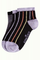 King Louie short socks 2-Pack Clubbing Black