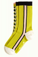 King Louie socks 2-Pack Harlequin Spring Yellow