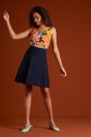 Sofia Skirt Milano Crepe Sapphire Blue