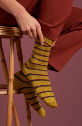 Socks 2-Pack Award curry yellow