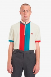 Fred Perry polo shirt Funnel Neck Ecru