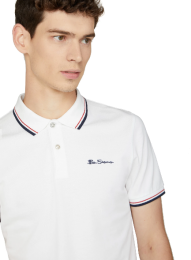Ben Sherman polo shirt SIGNATURE white