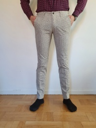 Fourten chinos check light beige T910
