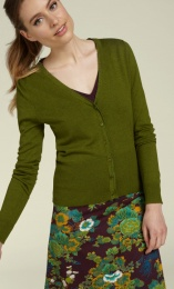 Cardi V Cocoon posey green
